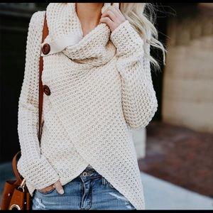 Brand New Cream Poncho/Sweater l/xl